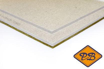 Afbeeldingen van fermacell gipsvezel vloerelement met 10mm minerale wol 30mm