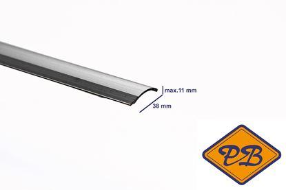 Afbeeldingen van Masters 138 zelfklevende verloopstrip tot 11mm zilver 38mm lengte 270cm