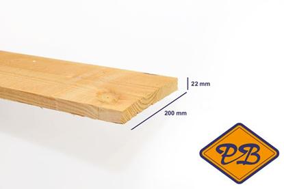 Afbeeldingen van douglas plank fijnbezaagd 22x200mm