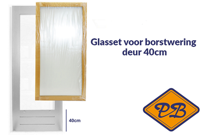 Afbeeldingen van isolatieglasset incl. tape voor SKG 584 borstwering deur 40cm