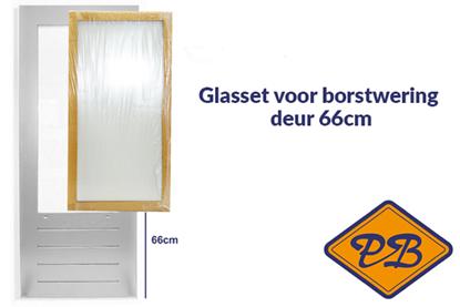 Afbeeldingen van isolatieglasset incl. tape voor SKG 587 borstwering deur 66cm