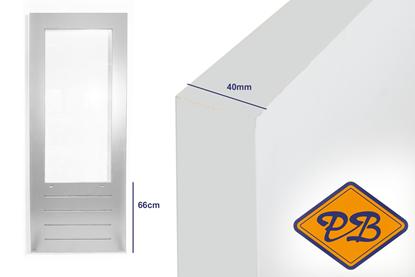 Afbeeldingen van balkon-tuindeur SKG 587  merbau 40mm komo/iso gegrond (borstwering = 66cm)