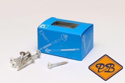 Afbeeldingen van Trespa snelmontageschroeven rvs A2 A20.7.2 donkerblauw 4,8x38mm (per doos=100stuks)