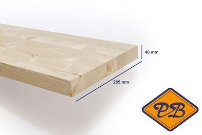 Afbeeldingen van vurenhout klasse B traphout premium gelamineerd fsc mix 70% 40x285mm
