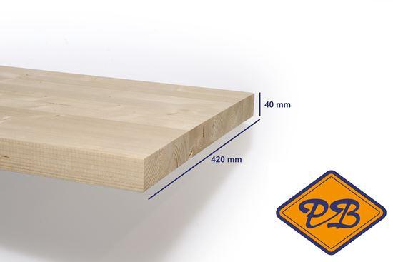 Afbeelding van vurenhout klasse B traphout premium gelamineerd fsc mix 70% 40x420mm