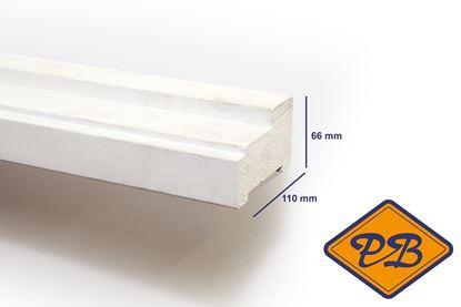 Afbeeldingen van hardhout kozijnprofiel  gevingerlast/gegrond stijl model A  66x110mm
