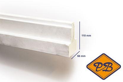 Afbeeldingen van hardhout kozijnprofiel  gevingerlast/gegrond middenstijl model B 66x110mm