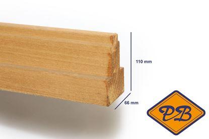Afbeeldingen van hardhout kozijnprofiel middenstijl model B 66x110mm