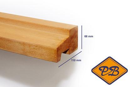 Afbeeldingen van hardhout kozijnprofiel onderdorpel model C 66x110mm