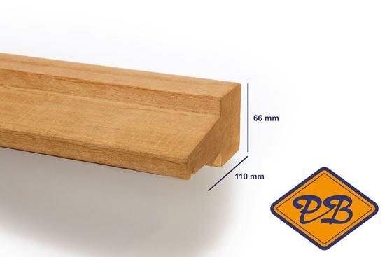 Verbazingwekkend hardhout kozijnprofiel tussendorpel / kalf model D 66x110mm BS-65