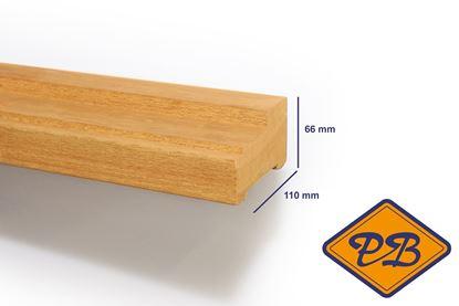 Afbeeldingen van hardhout kozijnprofiel stijl model A 66x110mm