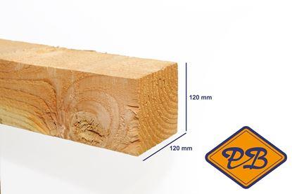 Afbeeldingen van douglas paal fijnbezaagd 4-EX gezaagd 120x120mm