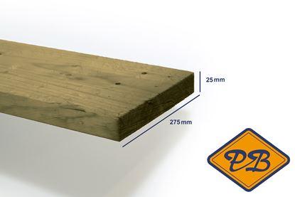 Afbeeldingen van vuren klasse C plank ruw verduurzaamd 25x275mm
