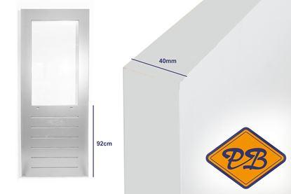 Afbeeldingen van balkon-tuindeur SKG 589 merbau 40mm komo/iso gegrond (borstwering = 92cm)