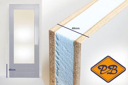 Afbeeldingen van balkon-tuindeur aluprofiel 40mm gegrond fsc mix 70% (borstwering = 40cm)