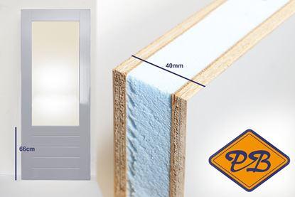 Afbeeldingen van balkon-tuindeur aluprofiel  40mm gegrond fsc mix 70% (borstwering = 66cm)