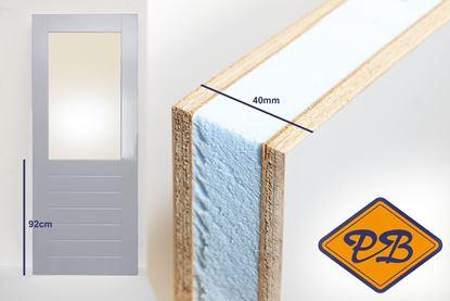Afbeeldingen van balkon-tuindeur aluprofiel 40mm gegrond fsc mix 70% (borstwering = 92cm)