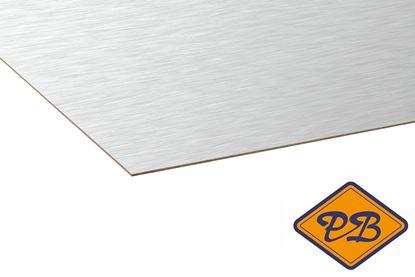 Afbeeldingen van kronospan hpl plaat metaal geborsteld aluminium 0,8mmx305x131cm (kleurnummer: AL 01)