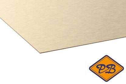 Afbeeldingen van kronospan hpl plaat metaal geborsteld platina 0,8mmx305x131cm (kleurnummer: AL 02)