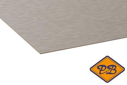 Afbeeldingen van kronospan hpl plaat metaal geborsteld rvs 0,8mmx305x131cm (kleurnummer: AL 03)