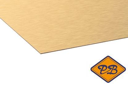 Afbeeldingen van kronospan hpl plaat metaal geborsteld goud 0,8mmx305x131cm (kleurnummer: AL 04)