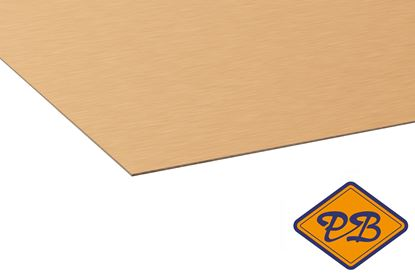 Afbeeldingen van kronospan hpl plaat metaal geborsteld koper 0,8mmx305x131cm (kleurnummer: AL 05)