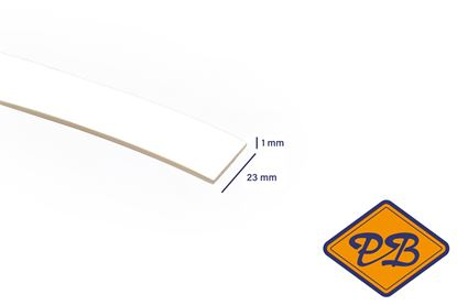 Afbeeldingen van ABS kantenband 1x23mm voor Kronospan geplastificeerd spaanplaat sneeuwwit kleurnummer 8685 BS (per rol=25mtr)