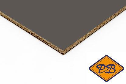 Afbeeldingen van kronospan geplastificeerd spaanplaat hoogglans kobalt grijs 280x205cm XL (kleurnummer: 6299 MG)