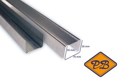 Afbeeldingen van metalstud ligger U75N wandprofiel 35x75x35mm