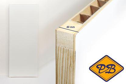 Afbeeldingen van boarddeur stomp vlak gegrond honingraat vulling 40mm