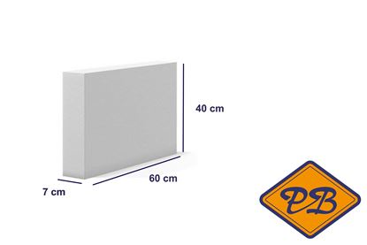 Afbeeldingen van Cellenbeton lijmblok sterkte G4/550 60x40x7cm