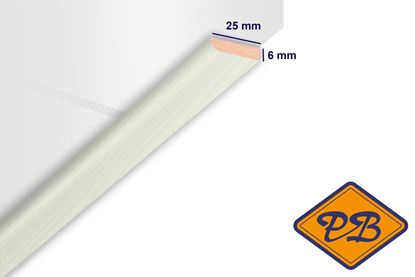 Afbeeldingen van HDM afdeklijst klassiek kristal wit 6x25mmx260cm