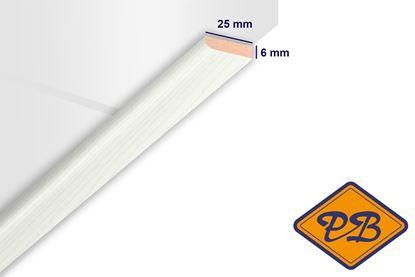 Afbeeldingen van HDM afdeklijst klassiek helder wit 6x25mmx260cm