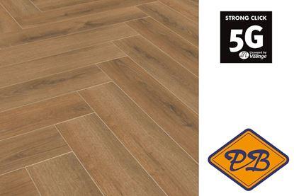 Afbeeldingen van HDM Villeroy & Boch Heritage click laminaat Harmony oak visgraat strook 8mmx13,3x66,6cm (per pak van 14 stuks B =1,24m²)