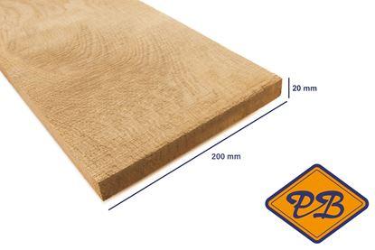 Afbeeldingen van eiken plank vers-fijnbezaagd 20x200mm