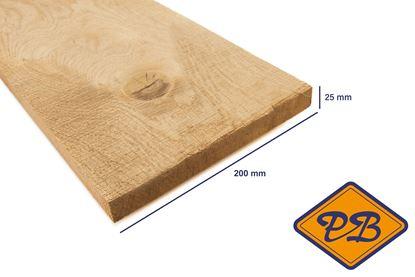 Afbeeldingen van eiken plank vers-fijnbezaagd 25x200mm