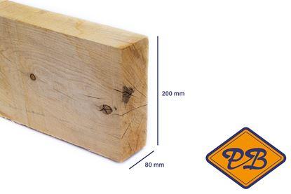Afbeeldingen van eiken balk vers-fijnbezaagd 80x200mm
