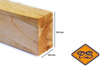 Afbeeldingen van eiken balk vers-fijnbezaagd 100x150mm