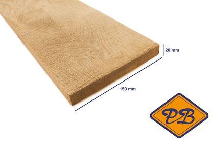 Afbeeldingen van eiken plank vers-fijnbezaagd 20x150mm