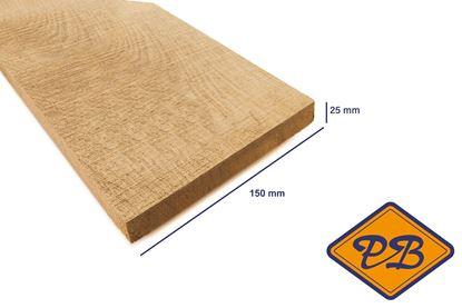 Afbeeldingen van eiken plank vers-fijnbezaagd 25x150mm