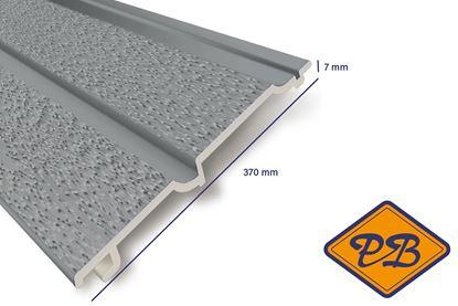 Afbeeldingen van HDM volschuim kunststof dubbelrabat gevelpaneel lichtgrijs mat 7x370mm