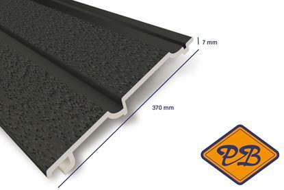 Afbeeldingen van HDM volschuim kunststof dubbelrabat gevelpaneel antraciet mat 7x370mm