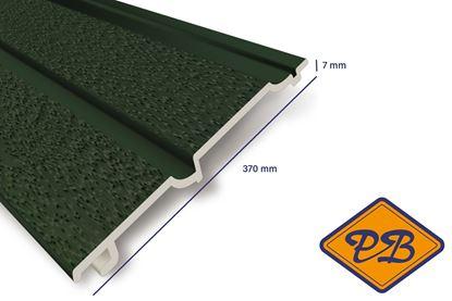 Afbeeldingen van HDM volschuim kunststof dubbelrabat gevelpaneel mat groen 7x370mm
