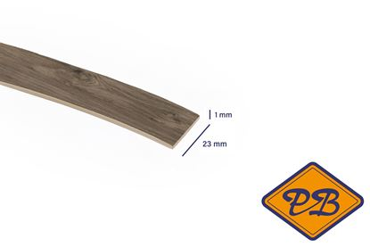 Afbeeldingen van ABS kantenband 1x23mm voor Kronospan geplastificeerd spaanplaat haven espresso eiken kleurnummer: K362 PW (per rol=25mtr)