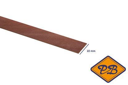 Afbeeldingen van kantband edelgefineerd sapeli mahonie 22mm voorgelijmd (rol=50mtr)