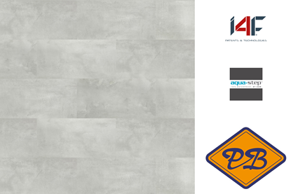 Afbeeldingen van HDM aqua step SPC click wand- en vloertegel Brighton 4mm